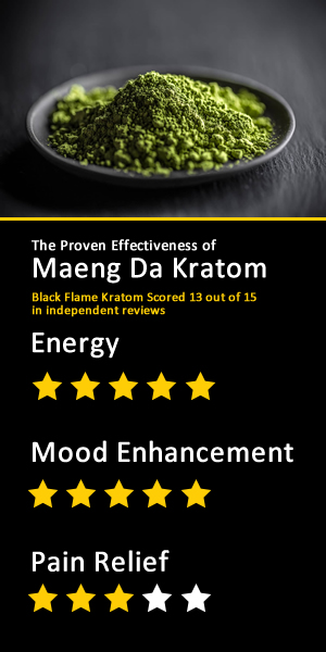Photo of Black Flame Kratom results from Independent Study